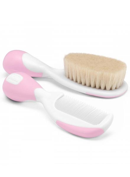 Chicco Brush And Comb Set - Pink