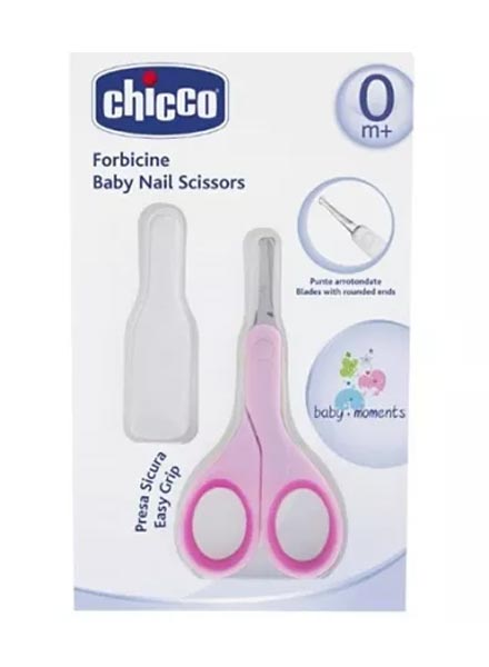Chicco Baby Nail Scissor - Pink