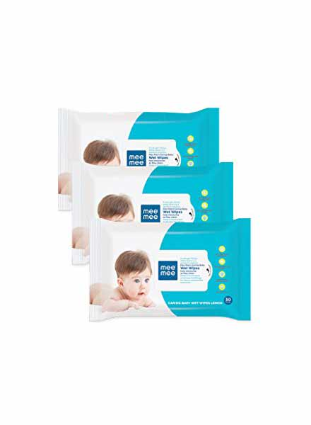 Mee Mee Caring Baby Wet Wipes-3 Packs Of 72 Sheets