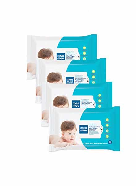 Mee Mee Caring Baby Wet Wipes-4 Packs Of 72 Sheets