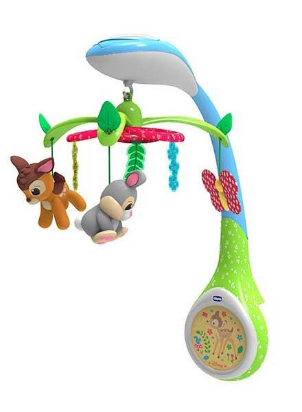 Disney Baby Bambi Musical Cot Mobile